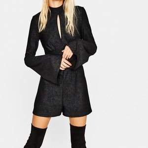Short Jumpsuit with Bell Sleeves